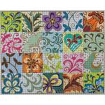 "PATCHWORK COLLAGE SIZE: 12"" X 15"" MESH: 13"
