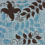 "BUTTERFLY - LT. BLUE & BROWN SIZE: 10"" X 10"" MESH: 13"