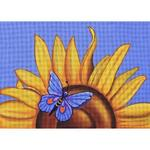 "SUNFLOWER & BUTTERFLY SIZE: 10"" X 14"" MESH: 13"