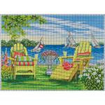 "SUMMER ON THE LAKE SIZE: 14"" X 10"" MESH: 13"