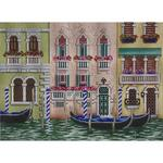"VENICE CANALS SIZE: 12"" X 8.5"" MESH: 13"