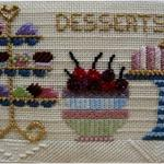 "CUPCAKE RECIPE PRICE: $59.00    SIZE: 4"" X 6"" MESH: 18 *STITCH GUIDE INCLUDED"