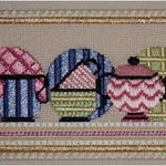 "DISHES RECIPE PRICE: $59.00    SIZE: 4"" X 6"" MESH: 18 *STITCH GUIDE INCLUDED"
