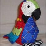 "POLLY PARROT SIZE: 9.5"" X 8"" MESH: 18 & 13 *STITCH GUIDE INCLUDED"