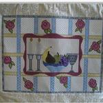 "ROSE CHALLAH COVER SIZE: 12.5"" X 16"" MESH: 13 & 18 *STITCH GUIDE INCLUDED"