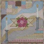 "SHABBAT CHALLAH COVER SIZE: 12"" X 12"" MESH: 18 *STITCH GUIDE INCLUDED"