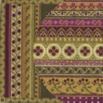 "MIDDLE EAST IN MAUVE/GOLD PRICE: $156.00    SIZE: 8"" X 8"" MESH: 18"