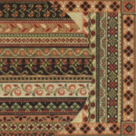 "MIDDLE EAST RUST & OLIVE PRICE: $156.00    SIZE: 8"" X 8"" MESH: 18"