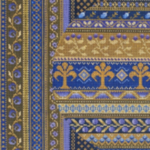 "MIDDLE EAST IN BLUE & GOLD PRICE: $156.00    SIZE: 8"" X 8"" MESH: 18"