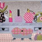 "DRESSING TABLE SIZE: 6.5"" X 9"" MESH: 18 *STITCH GUIDE INCLUDED"